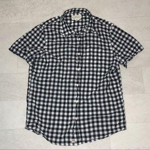 Denim & Supply Shirt Sz L Black White Check